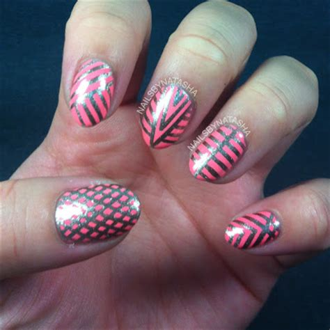 design your nails with tape nails by natasha first striping tape designs