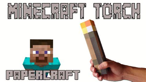 How To Make Papercraft Minecraft - how to make a real minecraft torch papercraft
