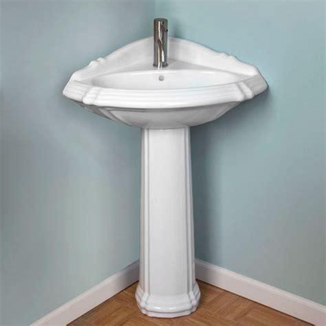 corner bathroom pedestal sink pedestal corner pedestal sink and faucets on