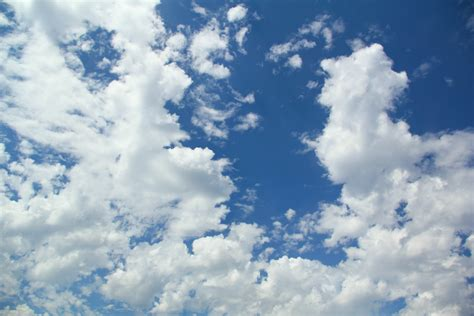 sky texture day blue white fluffy clouds wallpaper