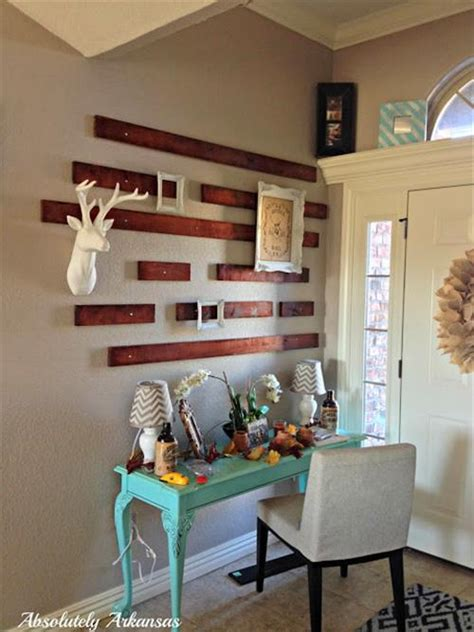 picture of diy attic wall pallet decor diy pallet wall art and decoration pallets designs