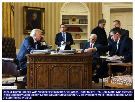 what desk is trump using donald trump making a phone call with vladimir putin while