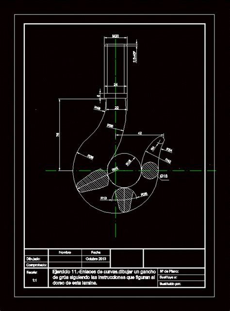 hook  dwg block  autocad designs cad