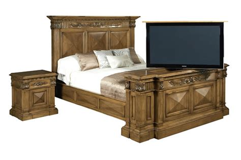 cabinet bed frame bed frames with tv lifts handmade mahogany bed with tv