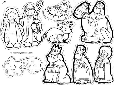 imagenes de navidad para colorear y armar para colorear dibujos de nacimientos para armar