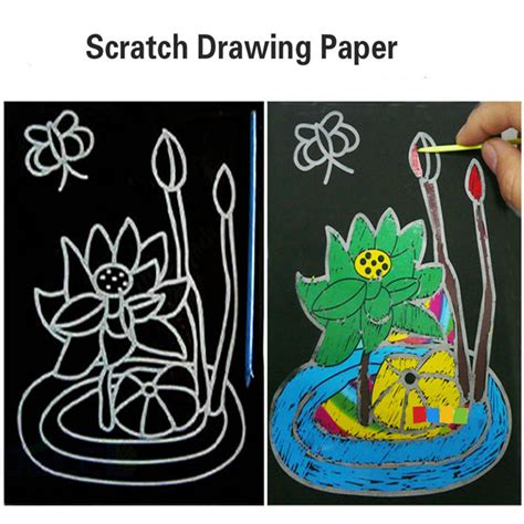 doodle scratch child scratch drawing paper doodle painting card