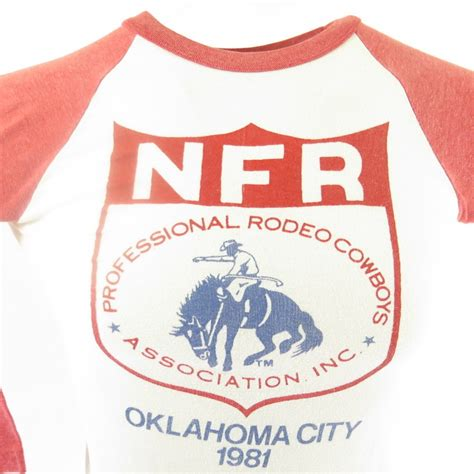 vintage 80s rodeo baseball t shirt mens s nfr cowboys