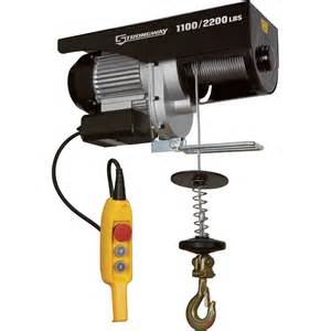 strongway electric cable hoist 1 100 lb 2 200 lb