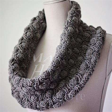 knit snood cocoon snood by monpetitviolon knitting pattern