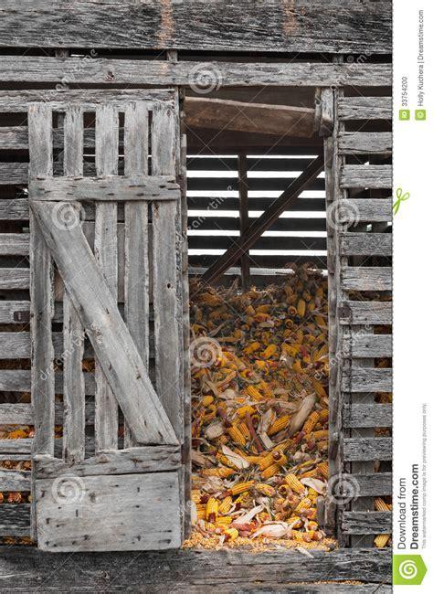 corn crib with open door stock photo image of vertical