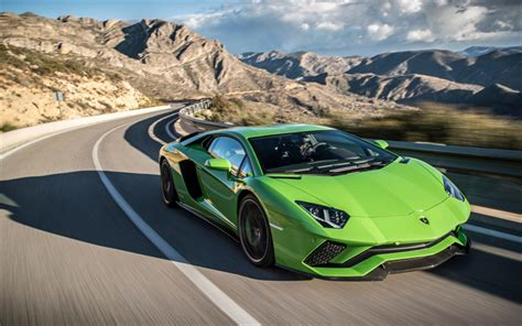 Light Green Lamborghini Wallpapers Lamborghini Aventador S 2017 Light