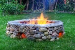 Rock Firepit River Rock Pit My Big Yard Ideas