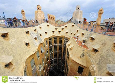 Gaudi's Casa Milla   Roof Details Editorial Stock Image