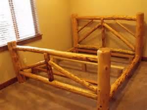Pine log bed frame bed amp bath