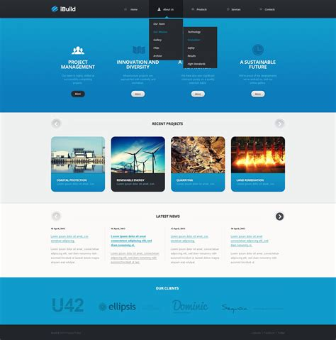 layout html online civil engineering website template 42111