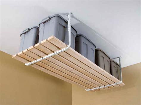 Garage Ceiling Shelf by Storage Garage Overhead Storage Ideas Garage Overhead