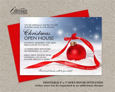 printable christmas open house invitations 44 best holiday open house invitations images on pinterest