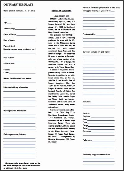 obituary template word document 10 obituary template in word sletemplatess