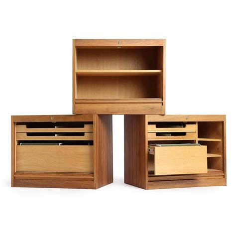 roll top storage cabinet roll top storage unit by hans j wegner for sale at 1stdibs