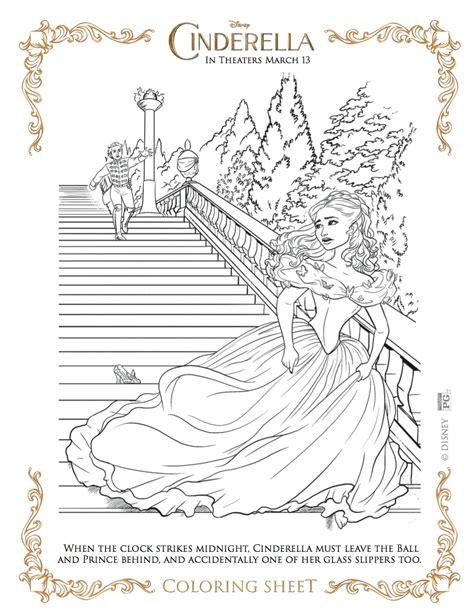 Cinderella Movie Coloring Pages | disney activity coloring pages