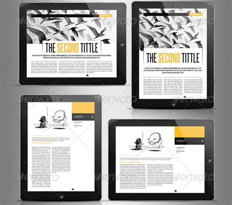 Electronic Magazine Template Awesome Digital Magazine Templates For Tablets 56pixels Com