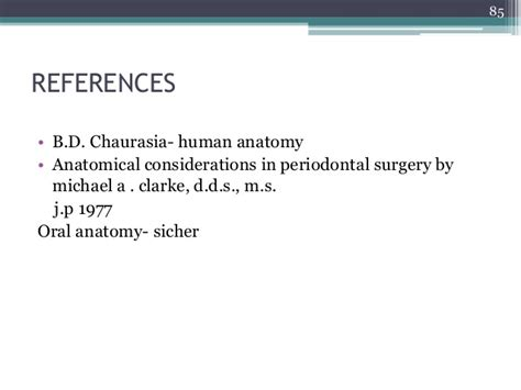 Surgical Anatomy Of Periodontal Structures