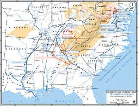 civil war battles in map carolinas caign