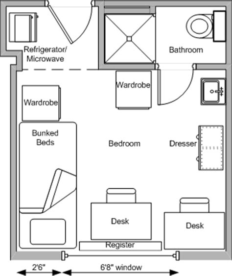 dorm room floor plans bradley hall residence halls university housing