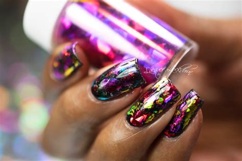 Nail Foil by Lacquer Lockdown Scattered Holographic Foil Nail