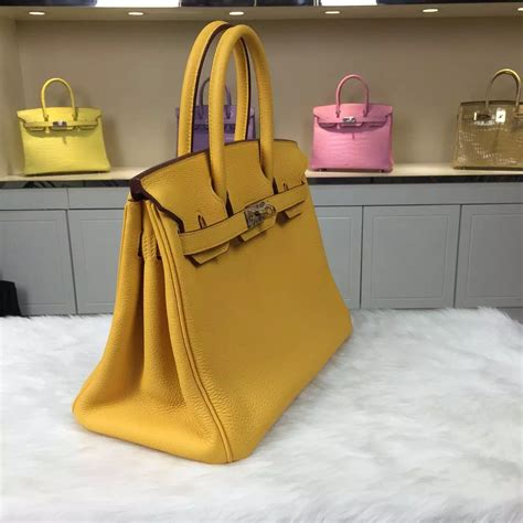 Hermes Bag Kayu Yellow hermes 9u mustard yellow togo calfskin leather birkin bag 30cm s tote bag hermes