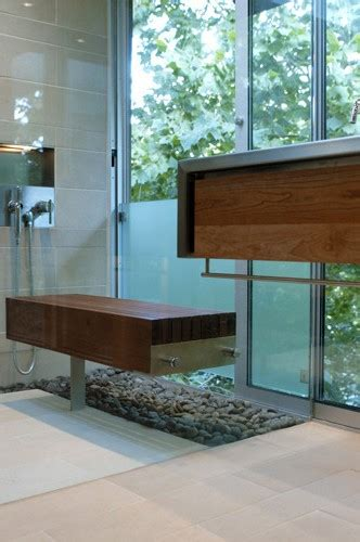 floating shower bench bathroom modern  contemporary