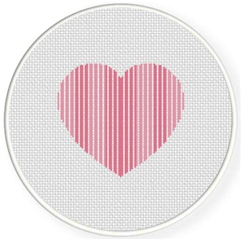 heart pattern for cross stitch striped heart cross stitch pattern daily cross stitch