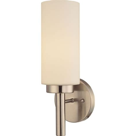 Nickel Wall Sconce Volume Lighting 1 Light Brushed Nickel Interior Wall Sconce V2121 33 The Home Depot