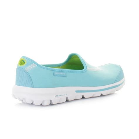 baby blue flats shoes details about womens skechers go walk baby blue flat