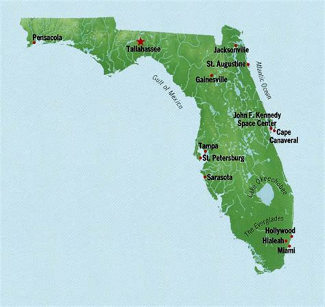 state of florida map state map of florida with cities
