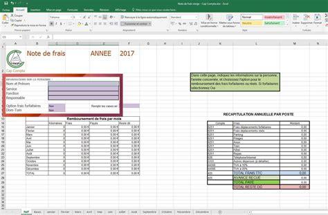 Modele Note De Frais outil gratuit note de frais 2017