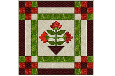 applique quilt pattern easy applique quilt pattern made with fusible web