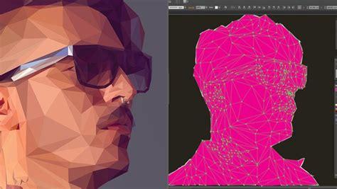 create   poly art  portrait tutorial