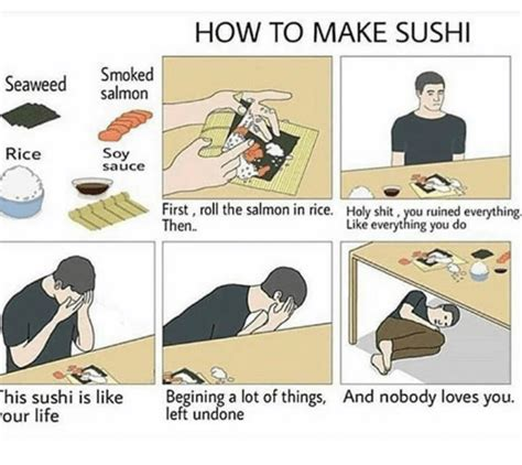 How To Create A Meme - how to make sushi smoked seaweed salmon rice soy sauce