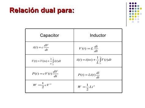 formulas capacitor e inductor analisis de redes electricas i 11