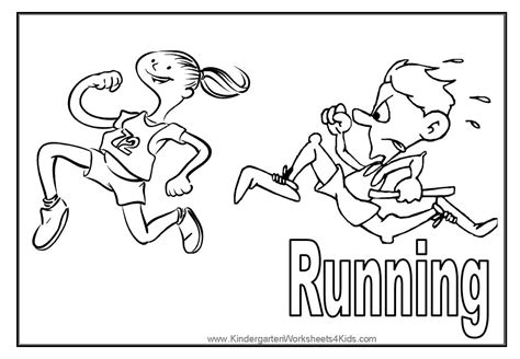 coloring pages of a running sport coloring pages