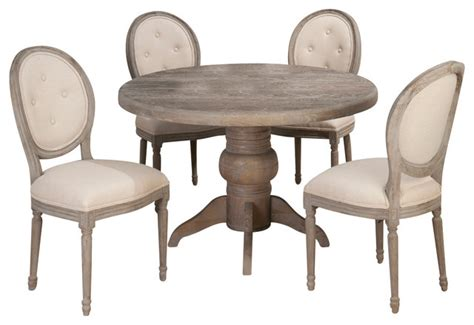 Pedestal Dining Room Sets by Jofran Burnt Grey 5 Piece Pedestal Dining Room Set With