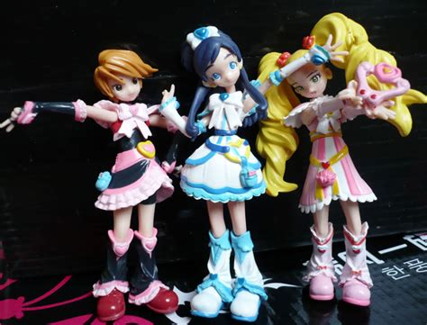 Pretty Cure Figure Set 3 topop8688 3pcs new pretty cure precure dolls figure