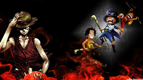 1920 x 1080 anime wallpaper one piece one piece brother wallpaper 1920x1080 by drunk3nsnip3rxd
