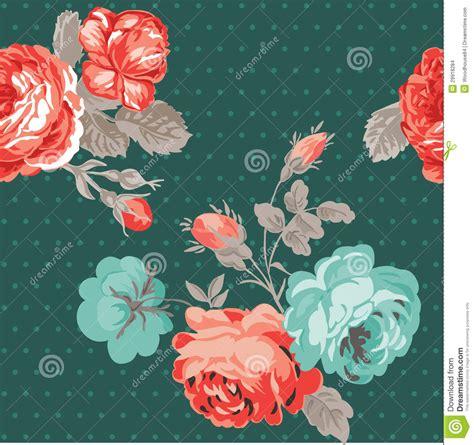 flower design for scrapbook vintage flower background stock vector image of