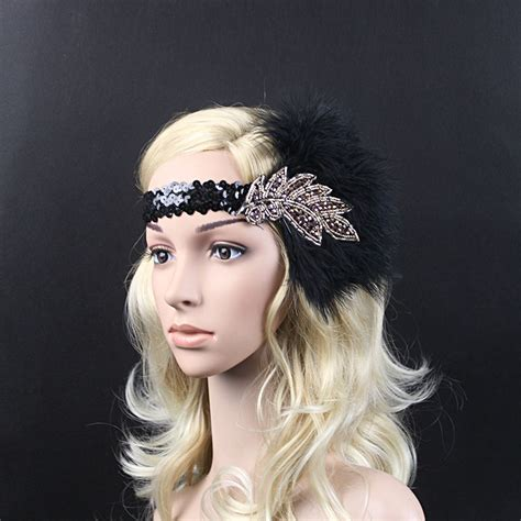 make a gatsby hair peice aliexpress com buy vintage feather beads sequins