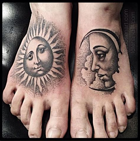 sun foot tattoo 40 attractive foot designs
