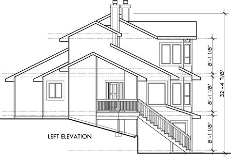 view house plans view home sloping lot multi level house plan 3d home