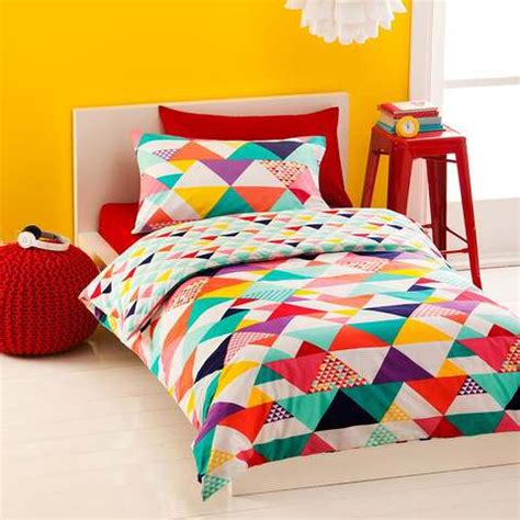 kmart kids bedding single quilt cover set geometric kmart