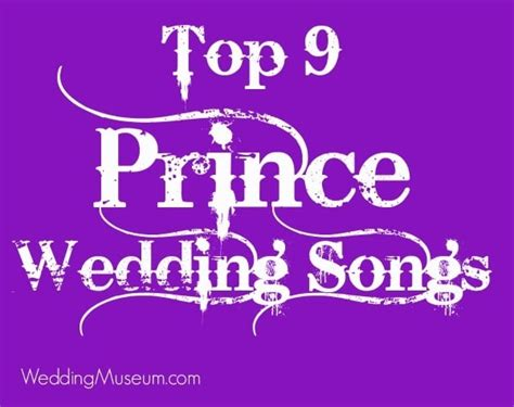 Legend Wedding Song List by Top 9 Prince Wedding Songs Everyone Will